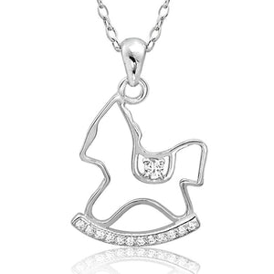 Cute Sterling Silver Rocking Horse Necklace Wholesale Lots 2