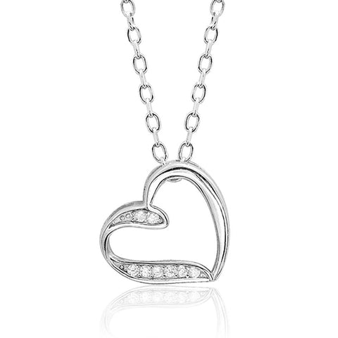 Lovely Sterling Silver Heart Shaped Necklace Wholesale Lots