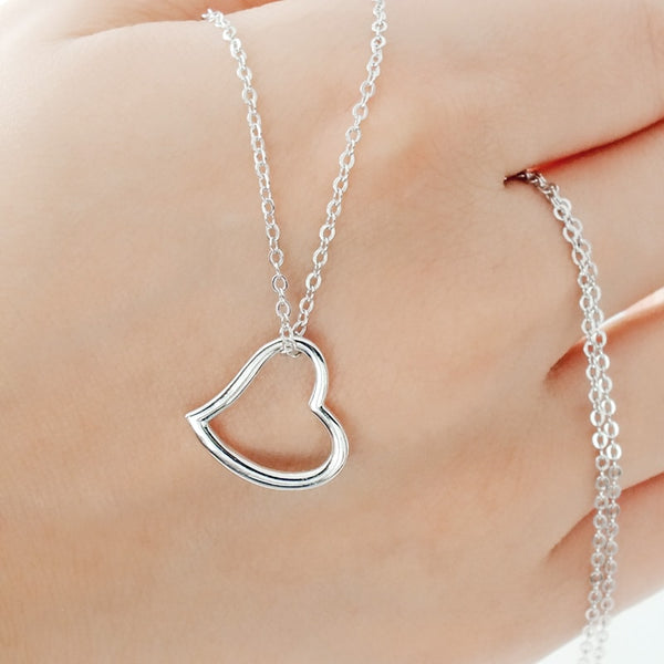 Sterling Silver 15mm Heart Necklace Wholesale Lots
