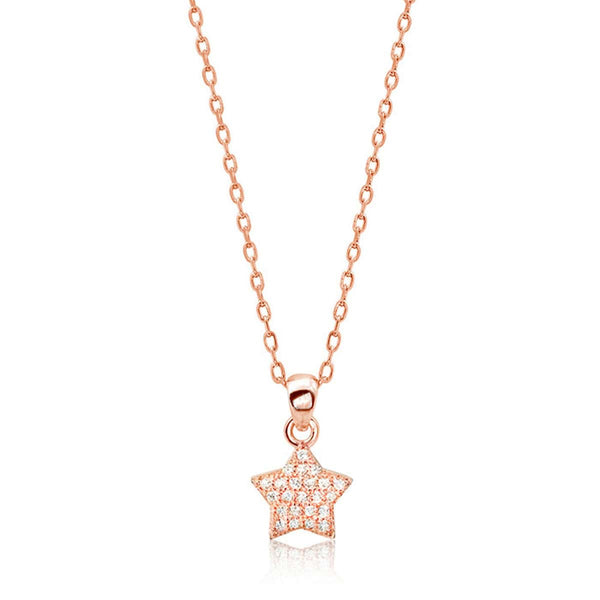 Rose Gold Plated Silver Little Star Necklace Wholesale