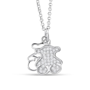 Lovely Sterling Silver Bear Necklace Wholesale Lots B