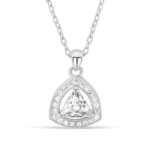 5pcs/Lot Sterling Silver Trillion CZ Necklace Wholesale 2