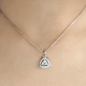 5pcs/Lot Sterling Silver Trillion CZ Necklace Wholesale 3