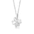 Sterling Silver CZ Three Circle Necklace Wholesale