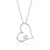 Sterling Silver Lovely Big Heart Necklace Wholesale