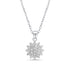 Exquisite Sunflower CZ Sterling Silver Necklace Wholesale