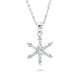 Sterling Silver CZ Snowflake Pendant Necklace Wholesale