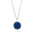 Sterling Silver Natural Crystal Blue Agate Pendant Necklace Wholesale