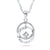 925 Sterling Silver Double Circle Necklace Dangling Wholesale