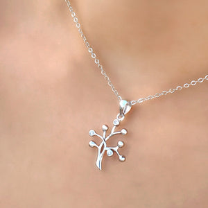 Sterling Silver CZ Tree of Life Necklace Wholesale