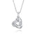 Sterling Silver CZ Triangle Pendant Necklace Wholesale