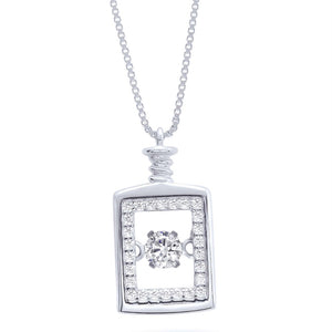 Silver Especially Cz Perfume Dangling Necklace Wholesale