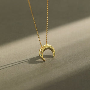 Sterling Silver Simple Moon Necklace Wholesale