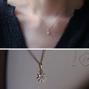 Sterling Silver Cubic Zirconia Flower Pendant Necklace Wholesale 2