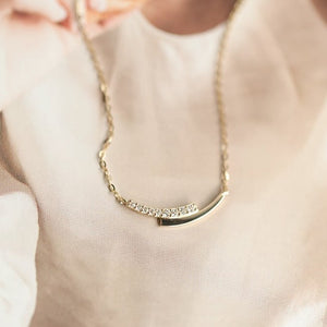 Sterling Silver Small Dainty Clavicle Necklace Wholesale 4