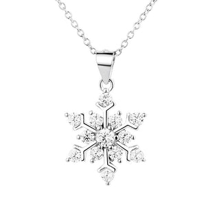 925 Sterling Silver Lucky snowflake pendant Necklace Wholesale