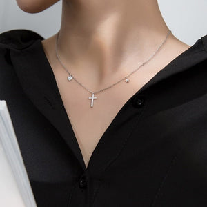 Sterling Silver Petite Cross Necklace Wholesale