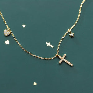 Sterling Silver Petite Cross Necklace Wholesale  3