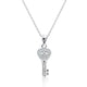 Sterling Silver CZ Fabulous key Necklace Wholesale Lot