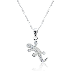5pcs/Lot Adorable Salamander Pendant Necklace Wholesale - SilverLots