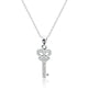 925 Sterling Silver CZ Shining Key Pendant Necklace Wholesale Lots
