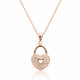 Rose Sterling Silver CZ Romantic Heart Lock Necklace Wholesale Lots 2
