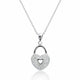 Cubic Zirconia Romantic Heart Lock Necklace Wholesale - SilverLots