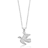 925 Sterling Silver CZ Lively Pigeon Pendant Necklace Wholesale Lots