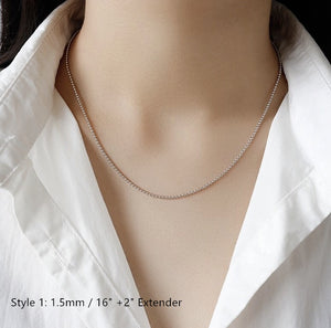 Sterling Silver Box Chain Snake Chain Wholesale 15