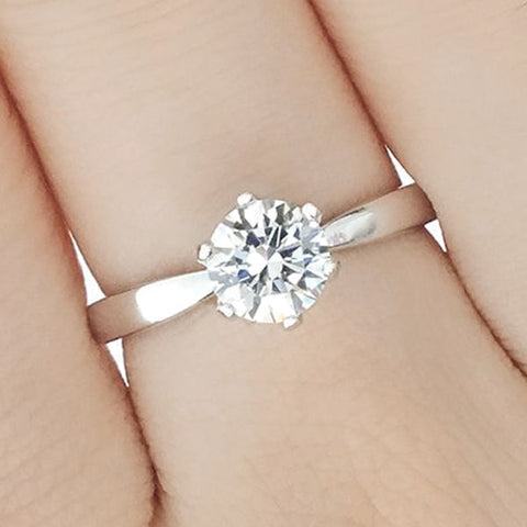 Sterling Silver Hearts and Arrows CZ Ring Wholesale