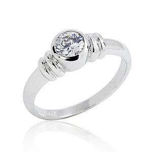 Sterling Silver 1.4 Carat CZ Fashion Ring Wholesale Lots