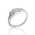 925 Sterling Silver Channel Cubic Zirconia Ring Wholesale