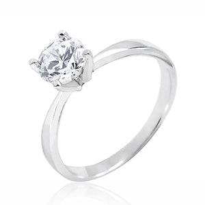 Sterling Silver 1.4 Carat Cubic Zirconia Solitaire Ring Wholesale 2