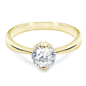 Gold Plated Sterling Silver CZ Two Prong Ring Wholesale Lots