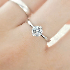 Sterling Silver CZ Two Prong Ring Wholesale Lots 2