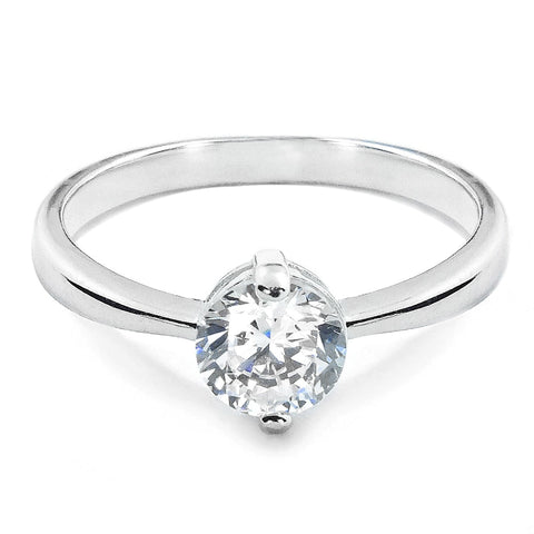 Sterling Silver CZ Two Prong Ring Wholesale Lots