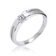 Cubic Zirconia 925 Sterling Silver Ring 3.5mm Wholesale