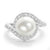 Classic Sterling Silver Pearl and CZ Ring Wholesale Lots