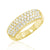 Gold Plated Sterling Silver 2.64 Carat Cubic Zirconia Ring Wholesale Lots