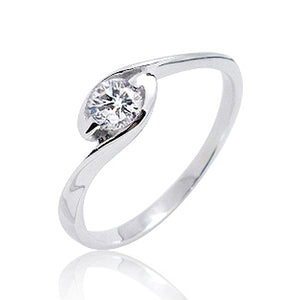 Sterling Silver Beautiful CZ Solitaire Ring Wholesale Lot