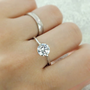 3.35 Carat Cubic Zirconia Fashion Solitaire Sterling Silver Ring Wholesale 2