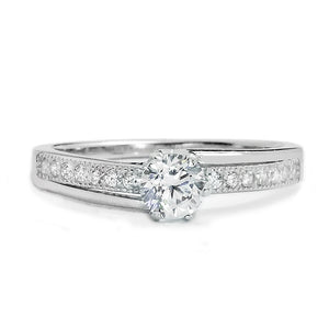 925 Sterling Silver 0.45 Carat Fashion CZ Ring Wholesale Lots