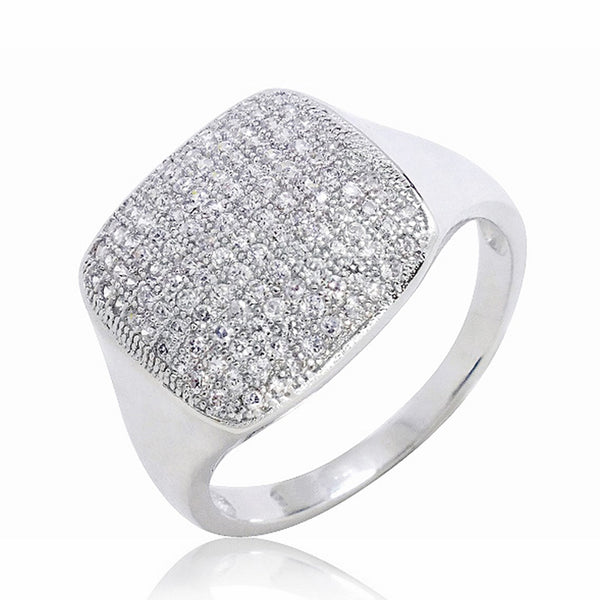 Gorgeous 925 Sterling Silver Micro Pave 1.17 Carat CZ Ring Wholesale