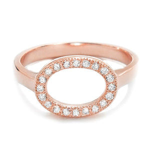 Rose Gold Plated Sterling Silver Circular Ring Wholesale Lot