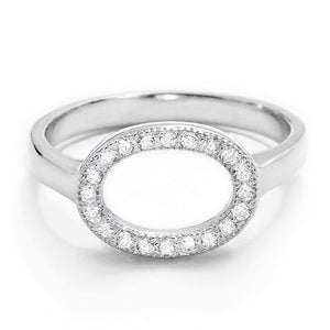 Sterling Silver Cubic Zirconia Circular Ring Wholesale Lots