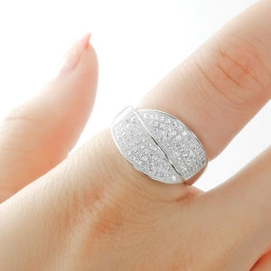 Sterling Silver Micro Pave Setting CZ Gorgeous Ring Wholesale Lots