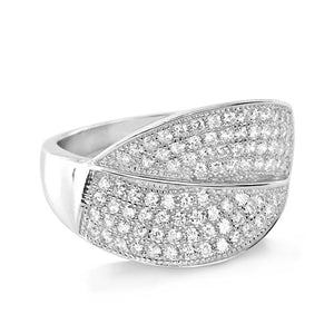 Sterling Silver Micro Pave Setting CZ Gorgeous Ring Wholesale Lots 2