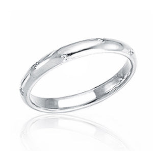 Classic 925 Sterling Silver Cubic Zirconia Band Ring Wholesale Lots