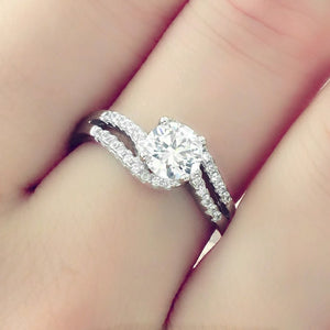 Sterling Silver 6mm Brilliant Cut CZ Ring Wholesale Lots
