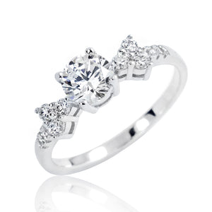 925 Sterling Silver Graceful Cubic Zirconia Ring Wholesale